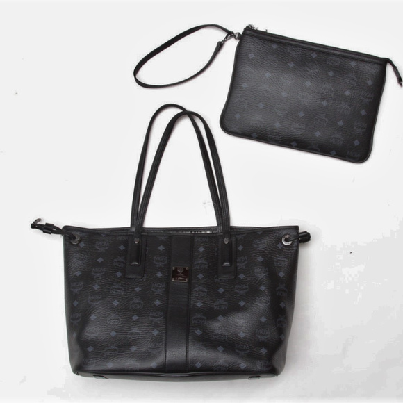 8d7f86669 MCM Bags | Liz Reversible Leather Tote Pouch | Poshmark